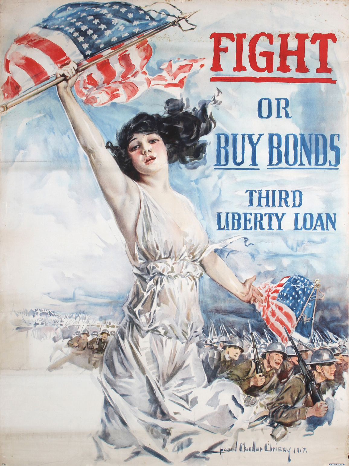 Fight Or Buy Bonds, Howard Chandler Christy, 1917