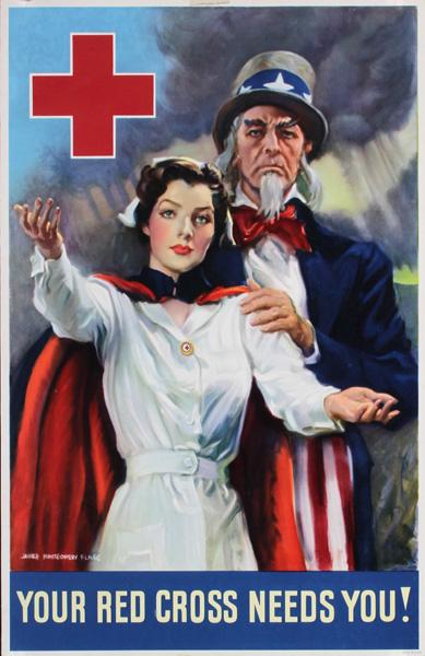 JM Flagg, WW II Red Cross