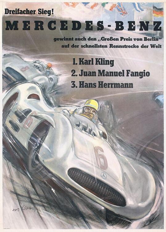 Hans Liska, Mercedes, 1954
